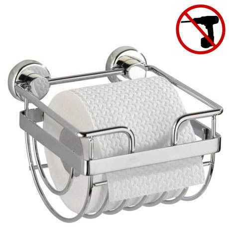 Wenko Sion Power-Loc Toilet Paper Holder - Chrome - 17822100