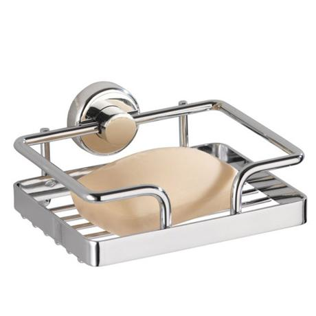 Wenko Sion Power-Loc Soap Dish - Chrome - 17834100