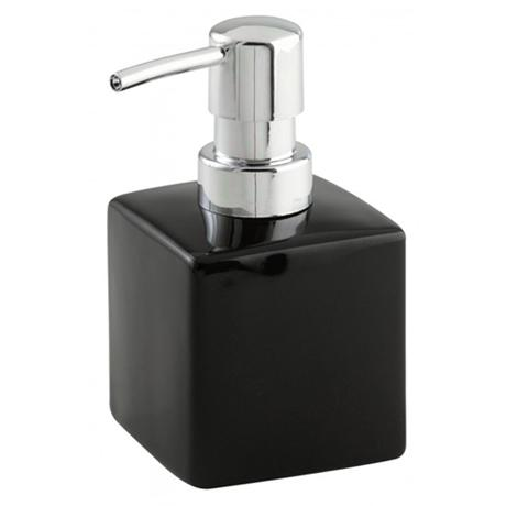 Wenko Square Ceramic Soap Dispenser - Black - 17846100