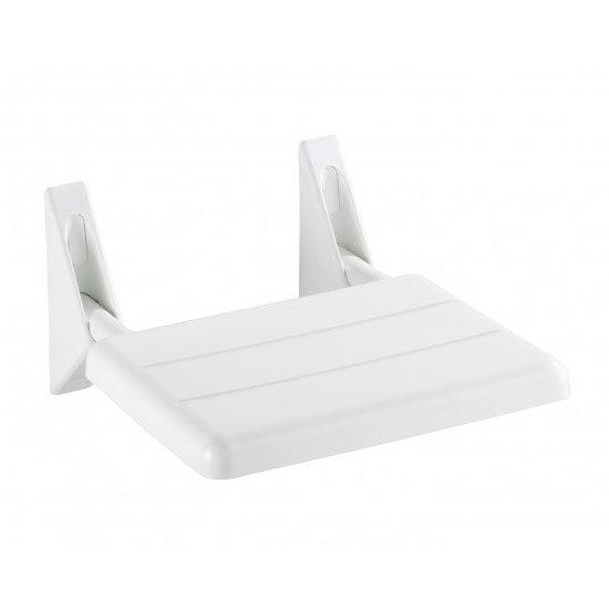 Wenko Secura Folding Shower Seat - White - 17937100 Large Image