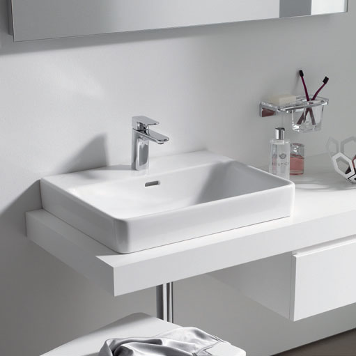 Laufen - Pro 1 Tap Hole Basin with Ground Base - 5 x Size Options profile large image view 2