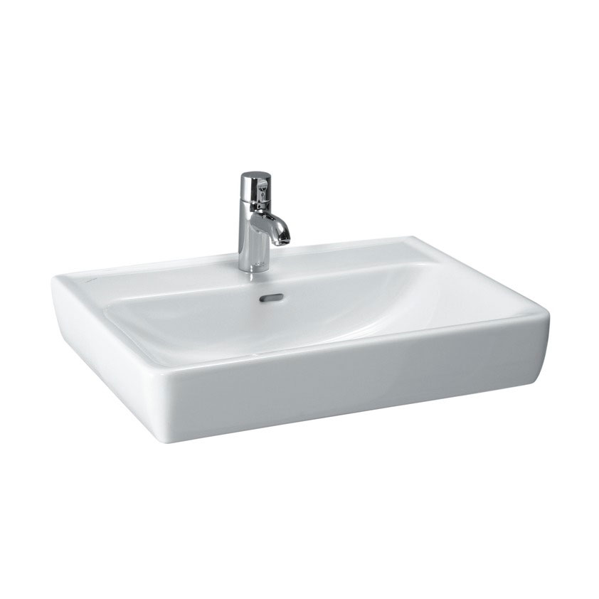 Laufen - Pro 1 Tap Hole Basin with Ground Base - 5 x Size Options Large Image