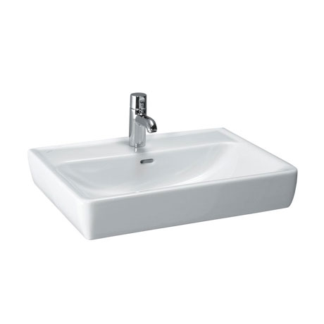 Laufen - Pro 1 Tap Hole Basin with Ground Base - 5 x Size Options
