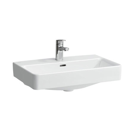 Laufen - Pro S 1 Tap Hole Compact Basin with Ground Base (Glazed All Sides) - 2 x Size Options