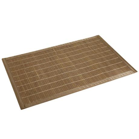 Wenko Bamboo Bath Mat - 500 x 800mm - Dark Brown - 17995100