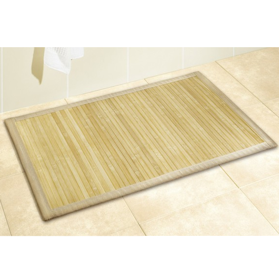 Wenko Bamboo Bath Mat - 500 x 800mm - Natural - 17996100 profile large image view 2