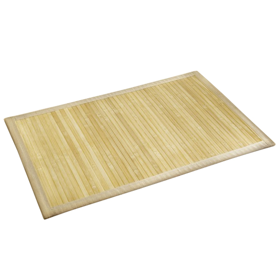 Wenko Bamboo Bath Mat - 500 x 800mm - Natural - 17996100 profile large image view 1