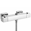 Milan Square 2 Outlets Thermostatic Bar Shower Valve profile small image view 1