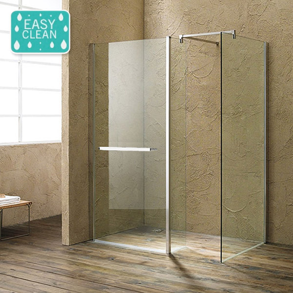 Matrix 10mm Wet Room Screen Enclosure - 1700 x 760mm profile large image view 1