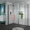 Matrix 1700 x 760mm Ultimate Walk In Enclosure + Side Panel Only 10mm (No Tray) profile small image view 1