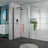 Matrix 10mm (1700 x 760mm) Wet Room Screen Enclosure - No Tray profile small image view 1