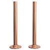 180mm Rose Gold Tubes + Plates for Radiator Valves Small Image