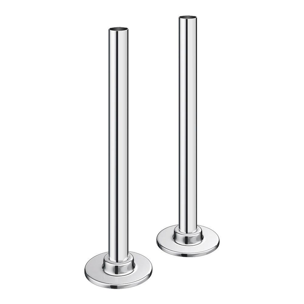 Chrome Brass Tubes + Plates for Radiator Valves
