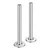 Chrome Brass Tubes + Plates for Radiator Valves Small Image