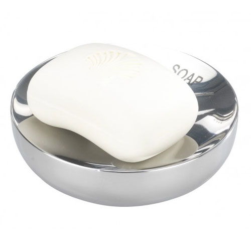 Wenko Riva Shiny Soap Dish - Stainless Steel - 18163100 profile large image view 1