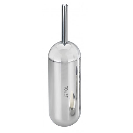Wenko Riva Shiny Toilet Brush & Holder - Stainless Steel - 18164100