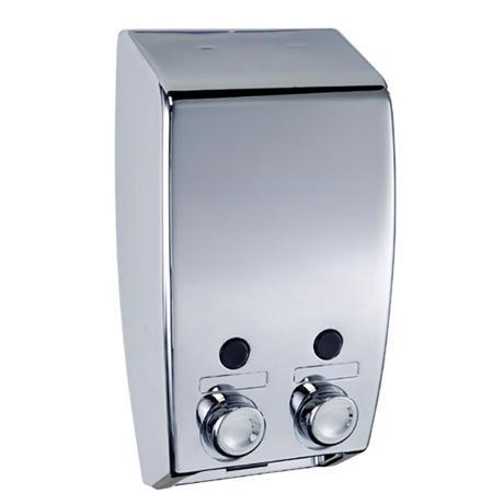 Wenko Varese 2-Chamber Soap Dispenser - Chrome - 18401100