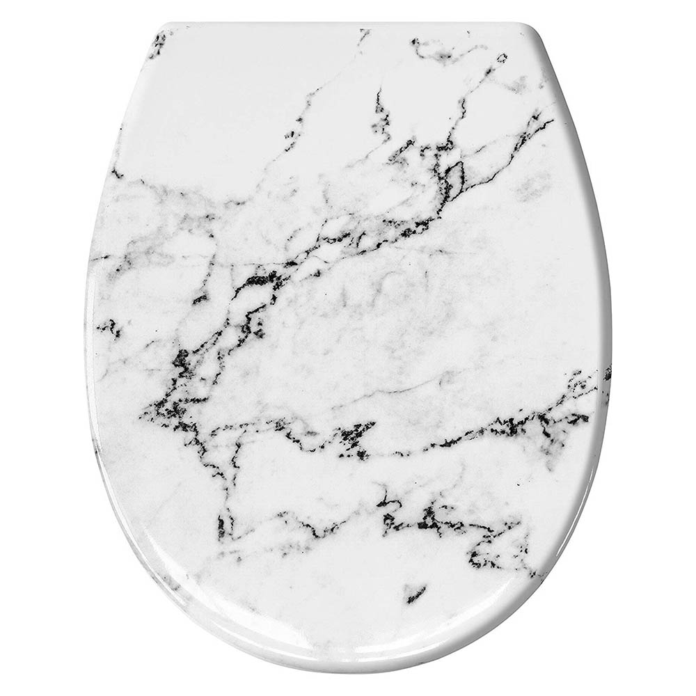 The Marble Top Fix Soft Close Toilet Seat