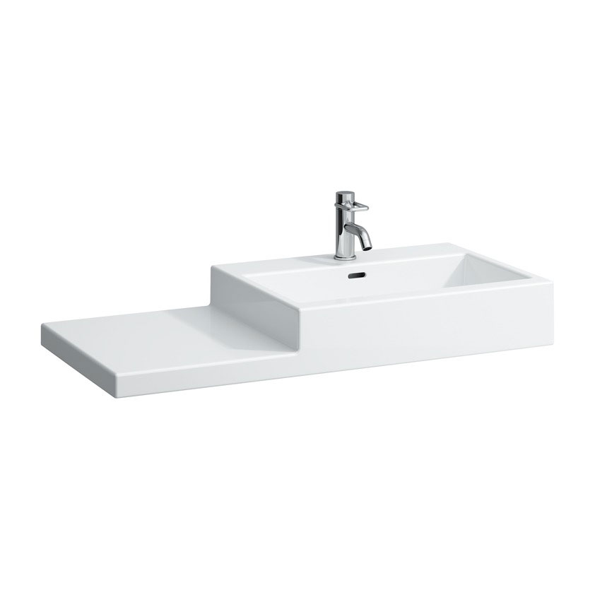 Laufen - Living City 1 Tap Hole 1000mm Basin with Shelf - Left or Right Hand Option Large Image