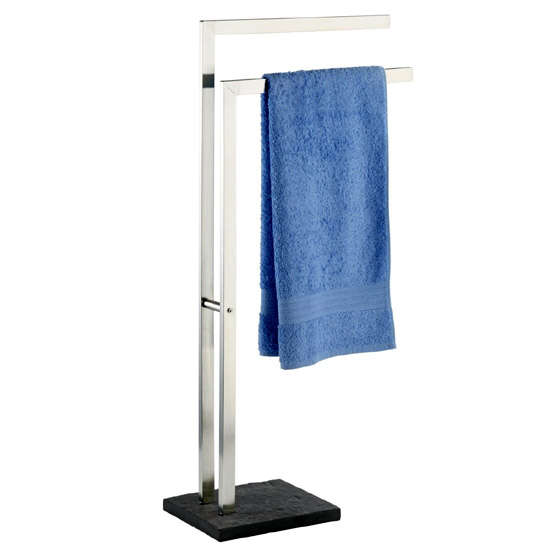 Wenko Slate Rock Towel and Clothes Stand - Stainless Steel - 18447100 Large Image
