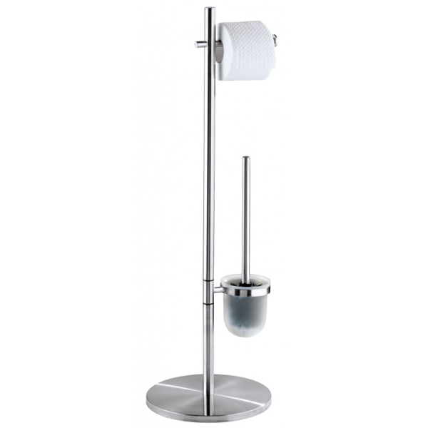 Wenko Pieno Standing WC Set - Stainless Steel - 18452100 profile large image view 1