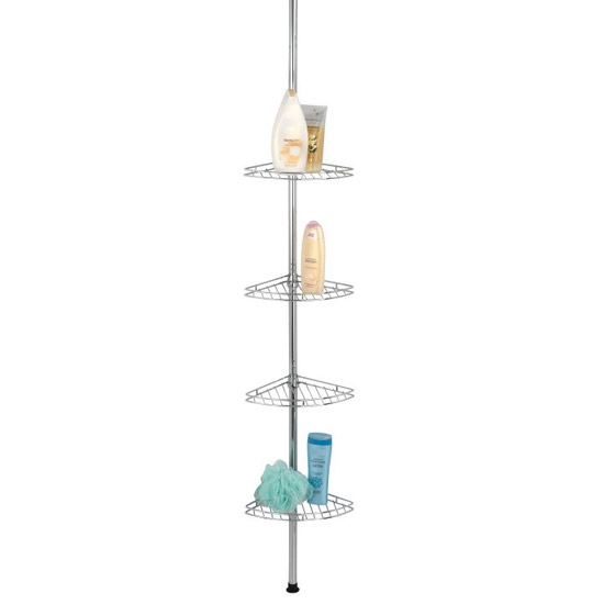 Wenko Prea Telescopic Corner Rack - Stainless Steel - 18596100 Large Image