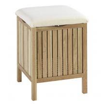 Wenko Norway Bath Stool - Walnut Wood - 18614100 Medium Image