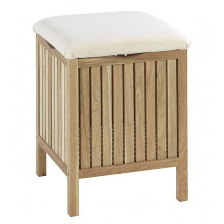 Wenko Norway Bath Stool - Walnut Wood - 18614100
