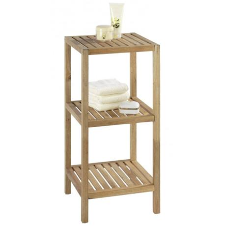 Wenko Norway 3 Tier Household & Bath Shelf - Walnut Wood - 18617100
