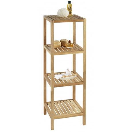 Wenko norway 4 tier household bath shelf walnut wood 18618100 at victorian plumbing uk - Amazon estanterias bano ...