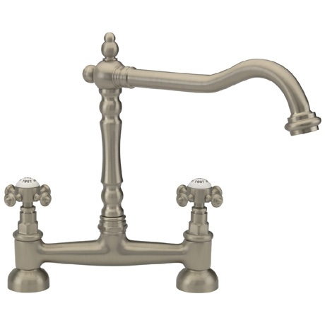 Tre Mercati - French Classic Mono Bridge Sink Mixer - Pewter - 186