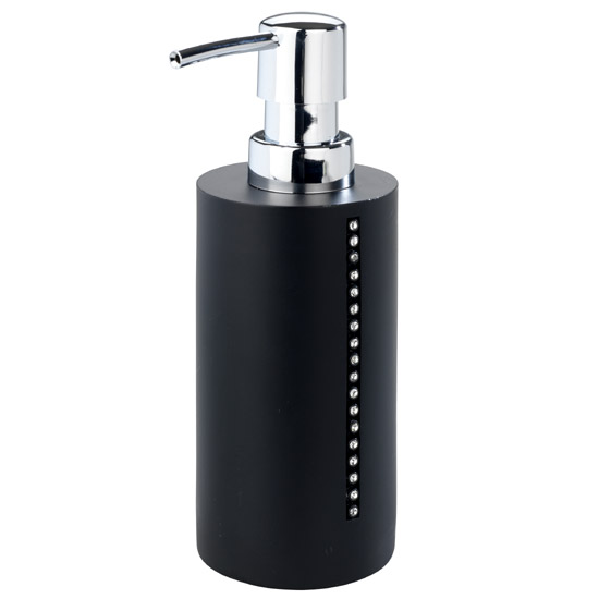 Wenko Diamond Soap Dispenser - Black - 18719100 Large Image