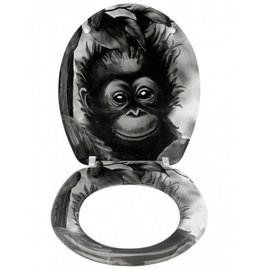 Wenko Monkey Duroplast Toilet Seat - 18796100 Profile Large Image