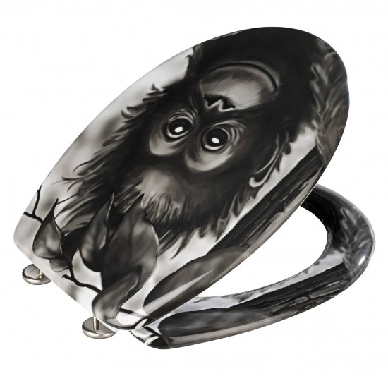 Wenko Monkey Duroplast Toilet Seat - 18796100 Feature Large Image