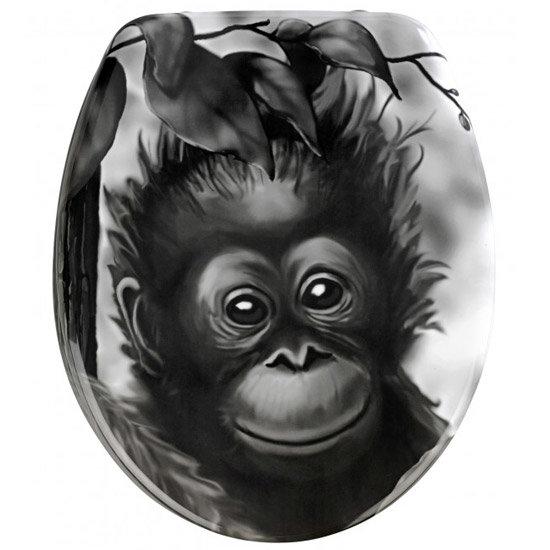Wenko Monkey Duroplast Toilet Seat - 18796100 Large Image