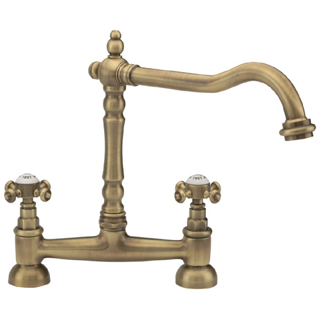 Tre Mercati - French Classic Mono Bridge Sink Mixer - Antique Brass - 187