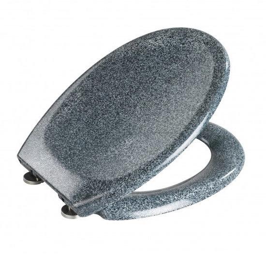 Wenko Ottana Premium Soft Close Toilet Seat - Granite - 18902100 Feature Large Image