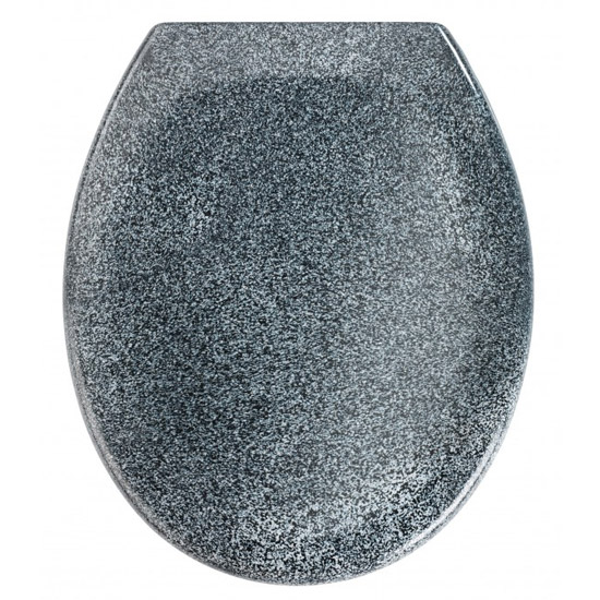 Wenko Ottana Premium Soft Close Toilet Seat - Granite - 18902100 Large Image