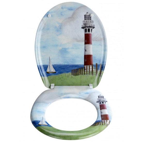 Wenko Lighthouse Duroplast Toilet Seat - 18904100 profile large image view 2