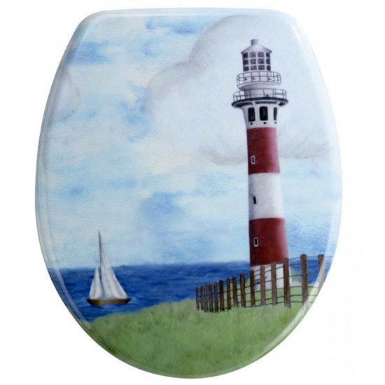 Wenko Lighthouse Duroplast Toilet Seat - 18904100 Large Image
