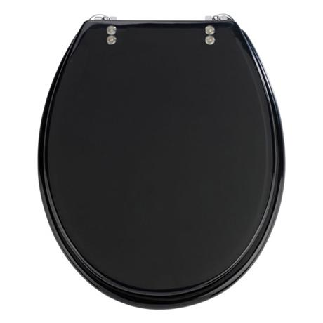 Wenko Topic Hand-made Polyresin Toilet Seat - Black - 18924100