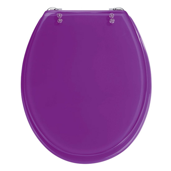 Wenko Topic Hand Made Polyresin Toilet Seat Purple