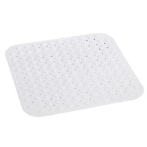 Wenko Tropic Shower Mat - 540 x 540mm - White - 18943100 Medium Image