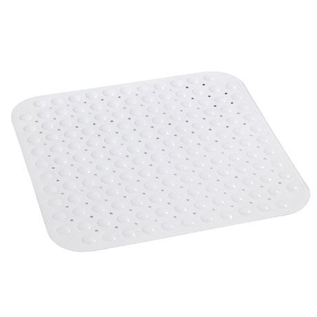 Wenko Tropic Shower Mat - 540 x 540mm - White - 18943100