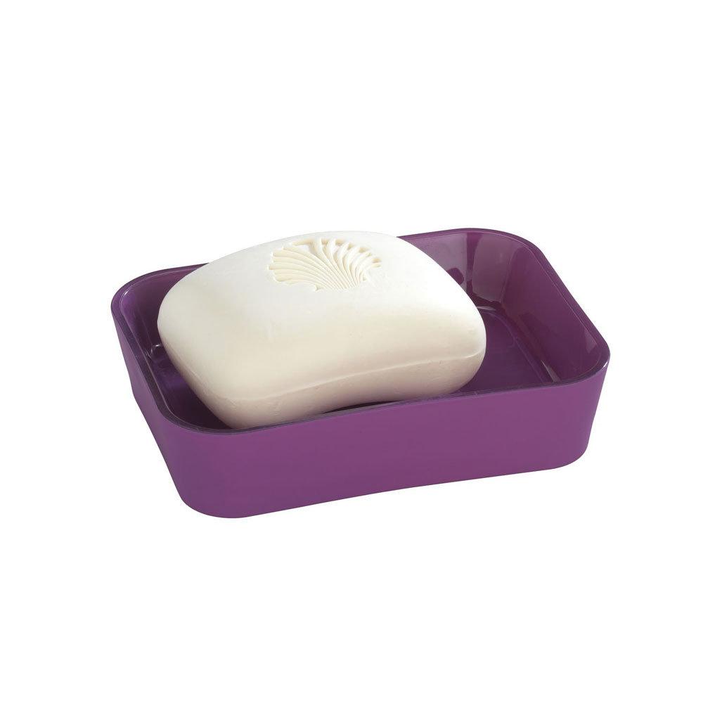 Wenko Rainbow Soap Dish - Purple - 18982100 Large Image