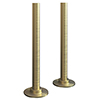 Brushed Brass Tubes + Plates for Radiator Valves profile small image view 1