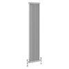 Keswick Grey 1800 x 372mm Cast Iron Style Traditional 2 Column Radiator profile small image view 1