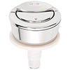 Wirquin Dual Flush Chrome Toilet Push Button profile small image view 1