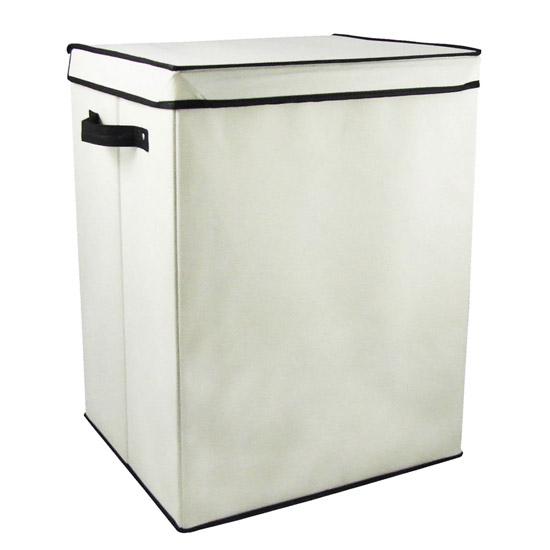 Cream Storage Box with Black Trim - 1900826 Large Image