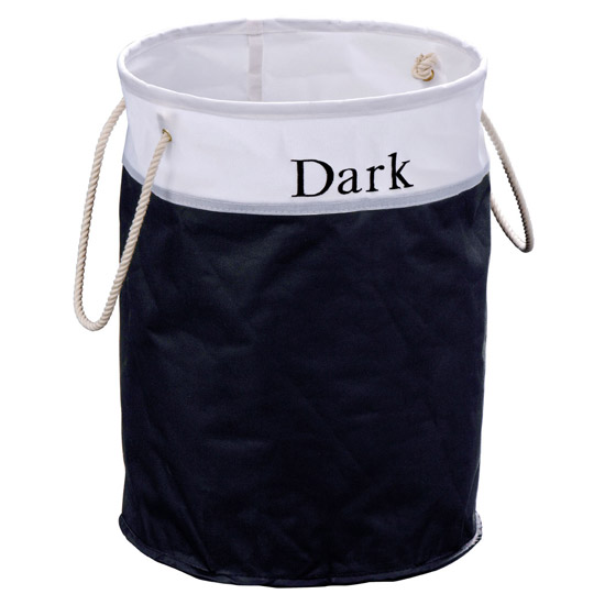 Polyester 'Dark' Laundry Hamper - 1900981 profile large image view 1